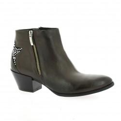 Elizabeth stuart Boots cuir taupe