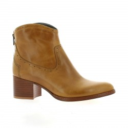 Ambiance Boots cuir cognac