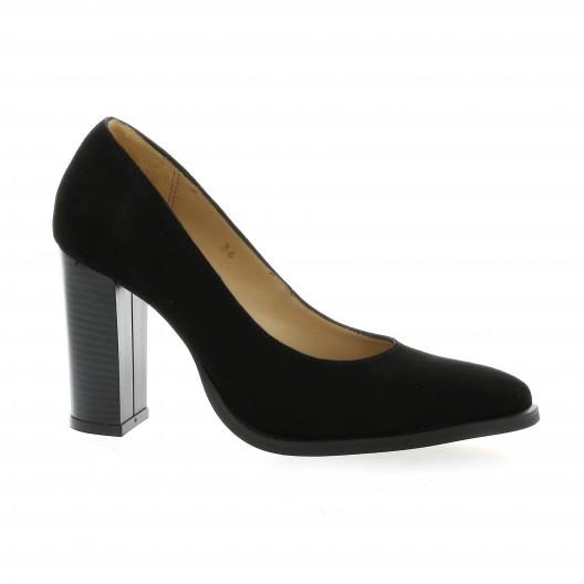 4d7400511a4b6 Vidi Studio chaussures escarpins cuir velours noir Ablis 50B