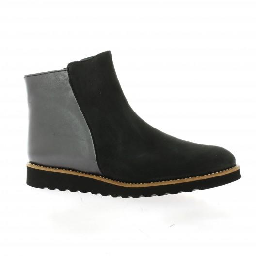 Latina Boots cuir nubuck noir