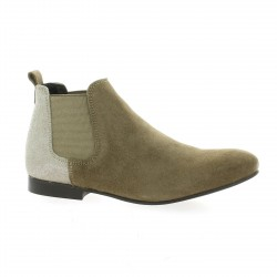 So send Boots cuir taupe