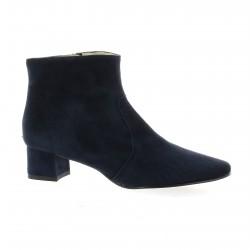 Brenda zaro Boots cuir velours marine