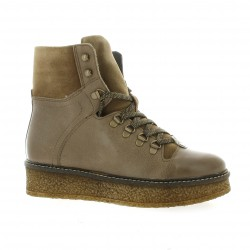 Impact Boots cuir taupe