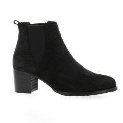 So send Boots cuir python noir