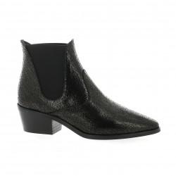 Fremilu Boots cuir serpent noir