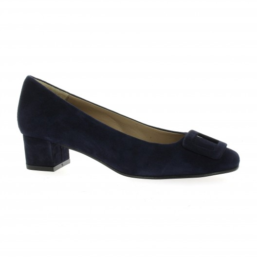 So Send Escarpins cuir velours Marine - Chaussures Escarpins Femme