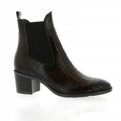 Fantasy Boots cuir croco marron