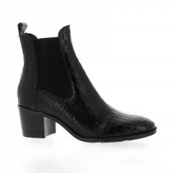 Fantasy Boots cuir croco noir