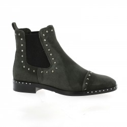 Fantasy Boots cuir velours anthracite