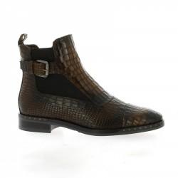 Mia tao Boots cuir croco marron