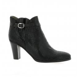 Minka Design Boots cuir serpent noir