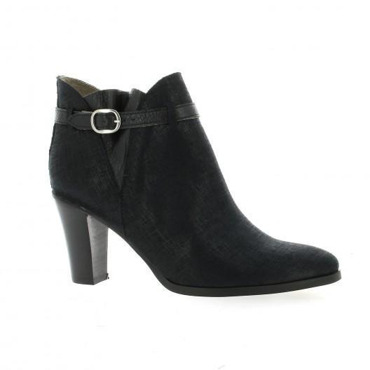 Minka Design Boots cuir laminé noir