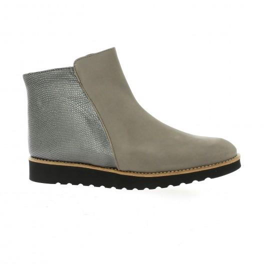 Latina Boots cuir nubuck taupe