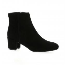 Fremilu Boots cuir velours noir