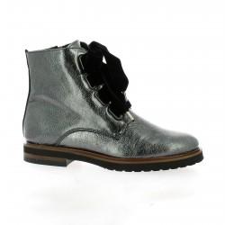 Mitica Boots cuir vernis argenté
