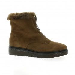 Alpe Boots cuir velours marron