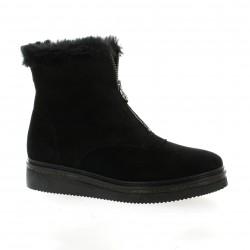Alpe Boots cuir velours noir