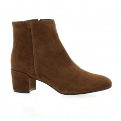 Fremilu Boots cuir velours cigare
