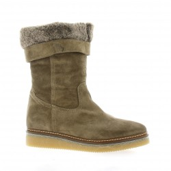 Alpe Boots cuir velours taupe