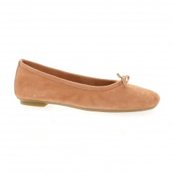 Reqins Ballerines cuir velours rose