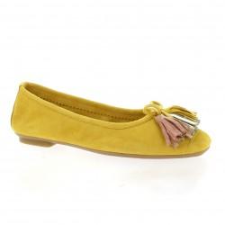 Reqins Ballerines cuir velours jaune