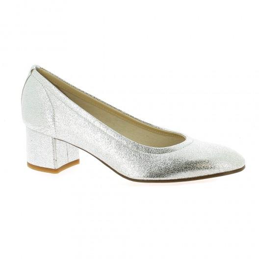 Elizabeth Stuart Escarpins cuir laminé Argent - Chaussures Escarpins Femme