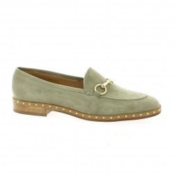 Mitica Mocassins cuir velours taupe