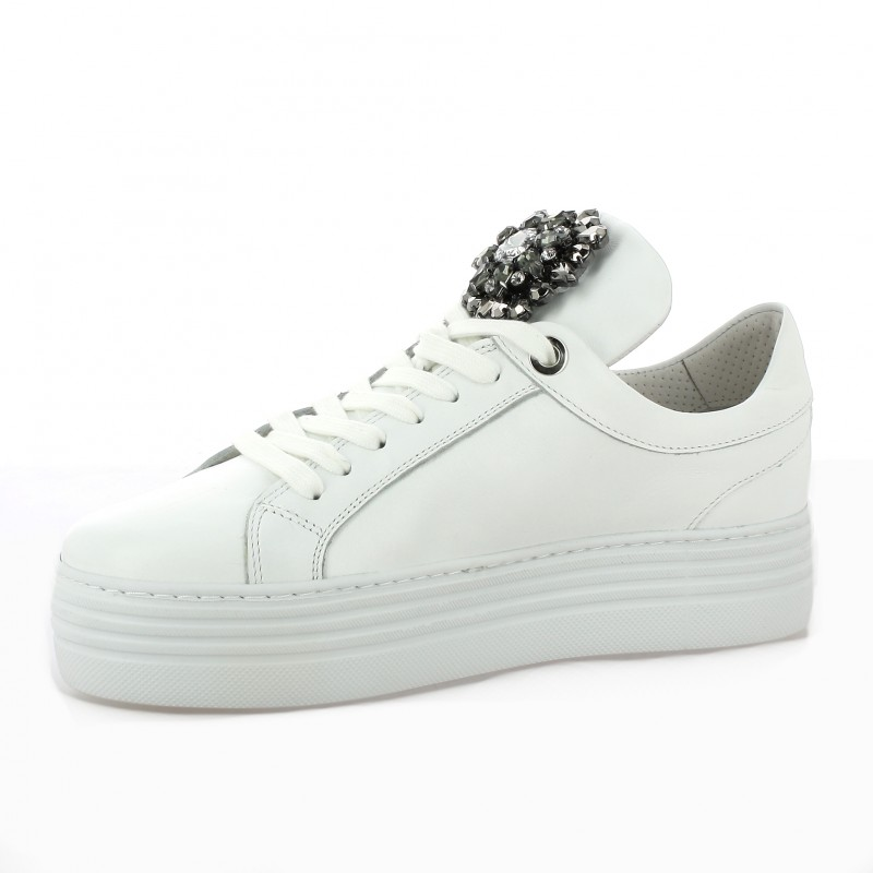 mitica baskets cuir blanc chaussures 33086. Black Bedroom Furniture Sets. Home Design Ideas
