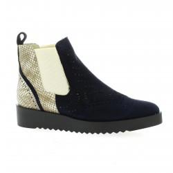 Vidi studio Boots cuir velours marine