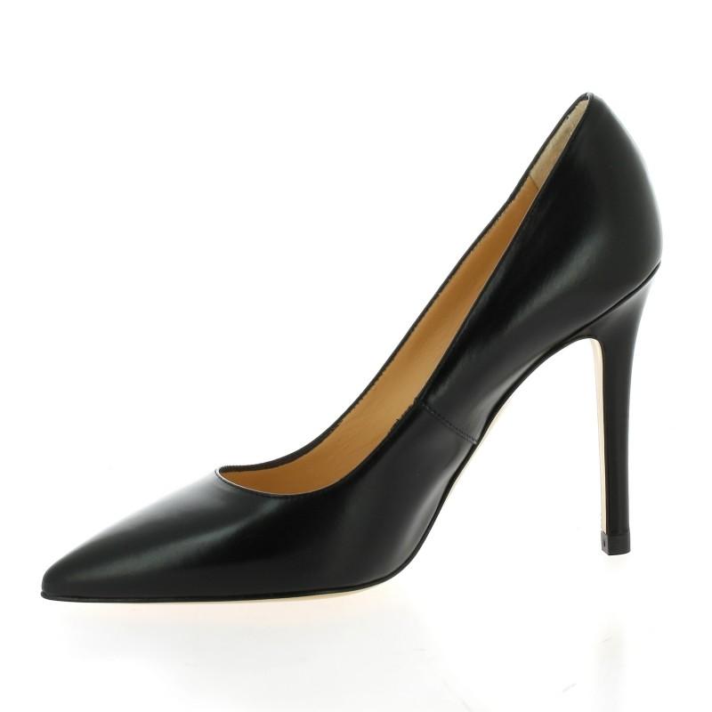chaussures essedonna escarpins cuir noir 1107. Black Bedroom Furniture Sets. Home Design Ideas