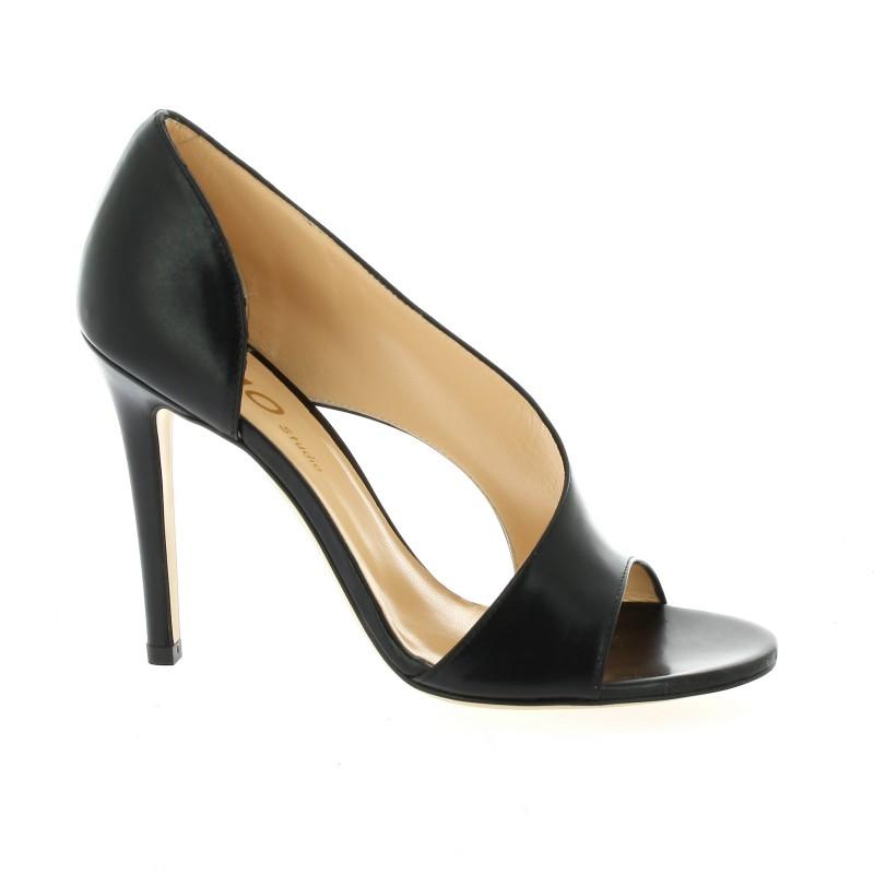 escarpins essedonna chaussures cuir noir 2561. Black Bedroom Furniture Sets. Home Design Ideas