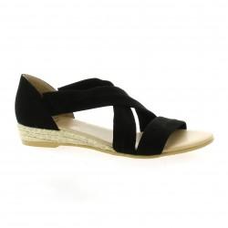 Exit Nu pieds cuir velours noir