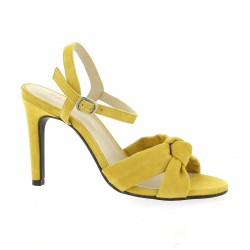 Vidi studio Nu pieds cuir velours jaune