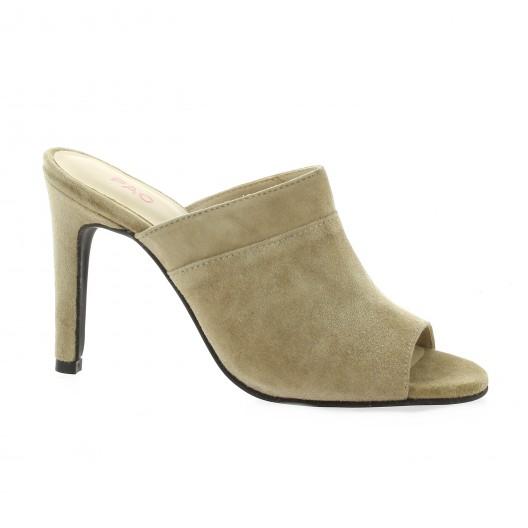 Nu Chaussures Belmont Cuir Pieds Velours Studio Vidi Taupe qqCvEw7