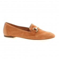 Exit Mocassins cuir velours orange