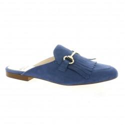 Exit Mules cuir velours bleu