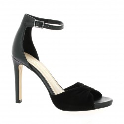 Fremilu Nu pieds cuir noir