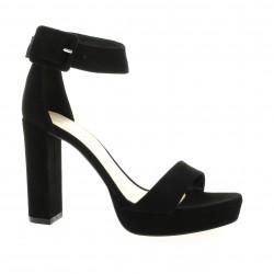 Fremilu Nu pieds cuir velours noir