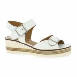Mitica Nu pieds cuir blanc