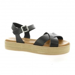 Exit Nu pieds cuir noir
