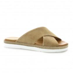 Exit Nu pieds cuir velours camel