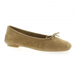 Reqins Ballerines cuir velours sable