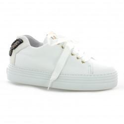 Alpe Baskets cuir blanc