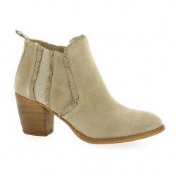 Alpe Boots cuir velours beige