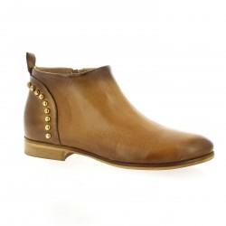 Pao Boots cuir cognac