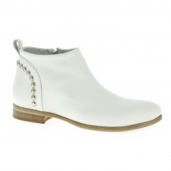Pao Boots cuir blanc