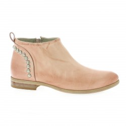 Pao Boots cuir rose