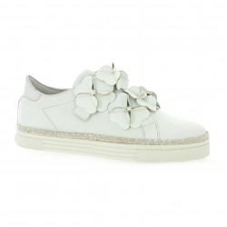 Bruno premi Baskets cuir blanc