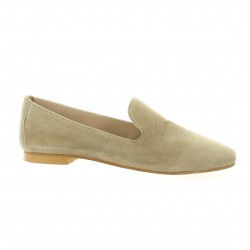 Impact Mocassins cuir velours taupe