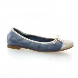 Pao Ballerines cuir bleu